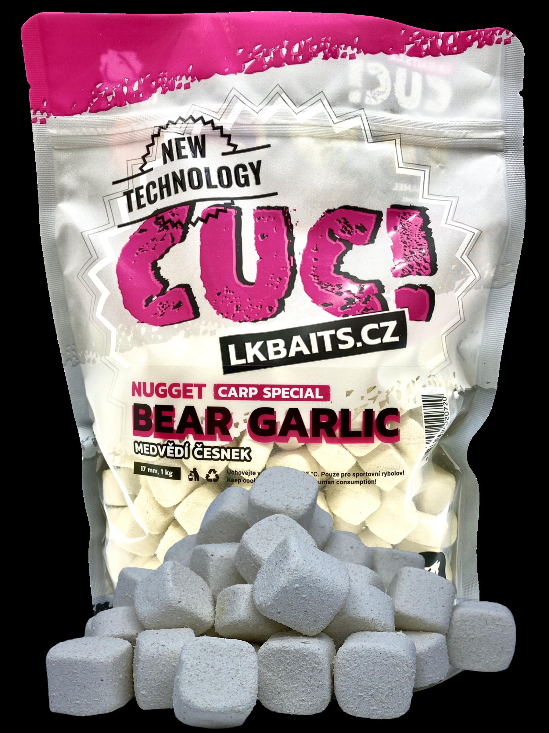 LK Baits CUC! Nugget Carp Garlic Bear 17 mm, 1kg