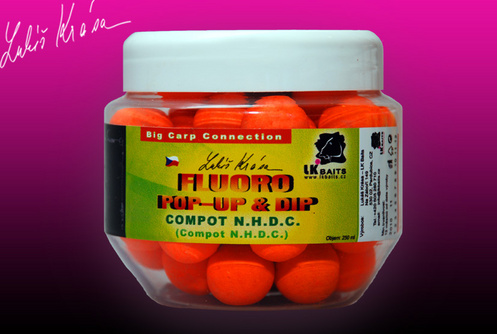Fluoro Pop-up Compot N.H.D.C. 14 mm (oranžová) + dip 150ml