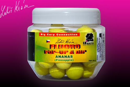 Fluoro Pop-up Pineapple 14mm (žlutá) + dip 150 ml