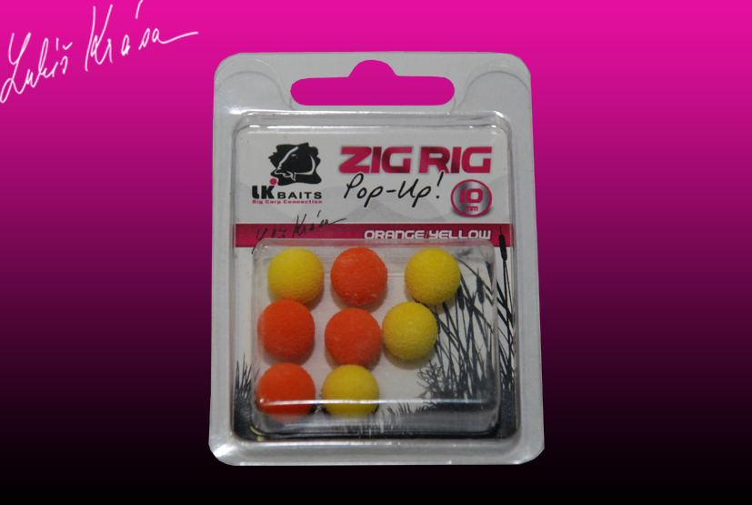 LK Baits ZIG RIG Pop–Up 10 mm – Orange/Yellow