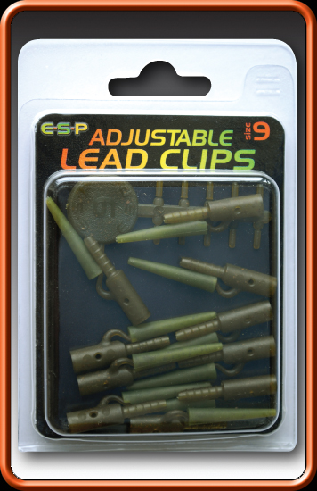 ESP Klipy na olovo - Adjustable Lead Clips-Weedy Green - vel.9, 10ks