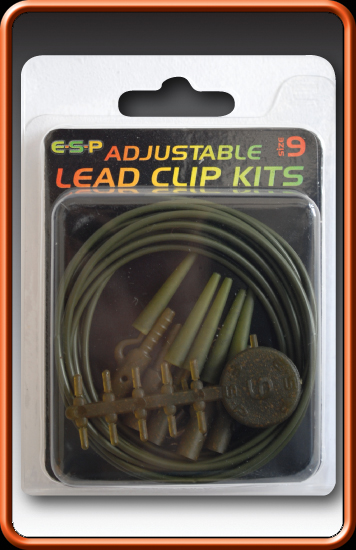 ESP Klipy na olovo - Adjustable Lead Clip Kits Weedy Green - vel.9, 10ks