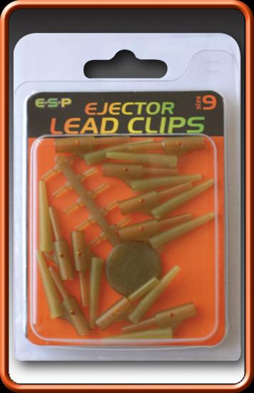 ESP Klipy na olovo - Ejector Lead Clip brown - vel.9, 3x10ks