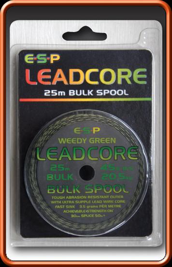 ESP Olovenka - Leadcore Bulk Weedy green - 45lb, 25m