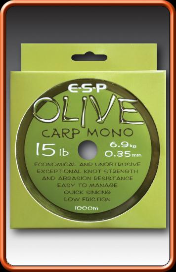 ESP Vlasec - OLIVE CARP MONO - 12lb, 0,325mm, 1000m