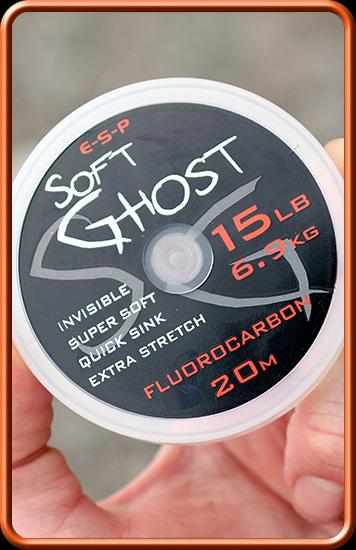 ESP Ghost Soft Fluorocarbon - 15 lb, 20 m