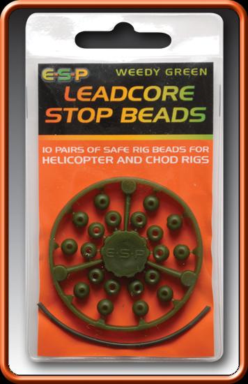 ESP Zarážky - Leadcore stop Beads camo brown - 20ks