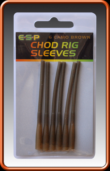 ESP Prevleky - Chod Rig Sleeves Camo Brown - 6ks