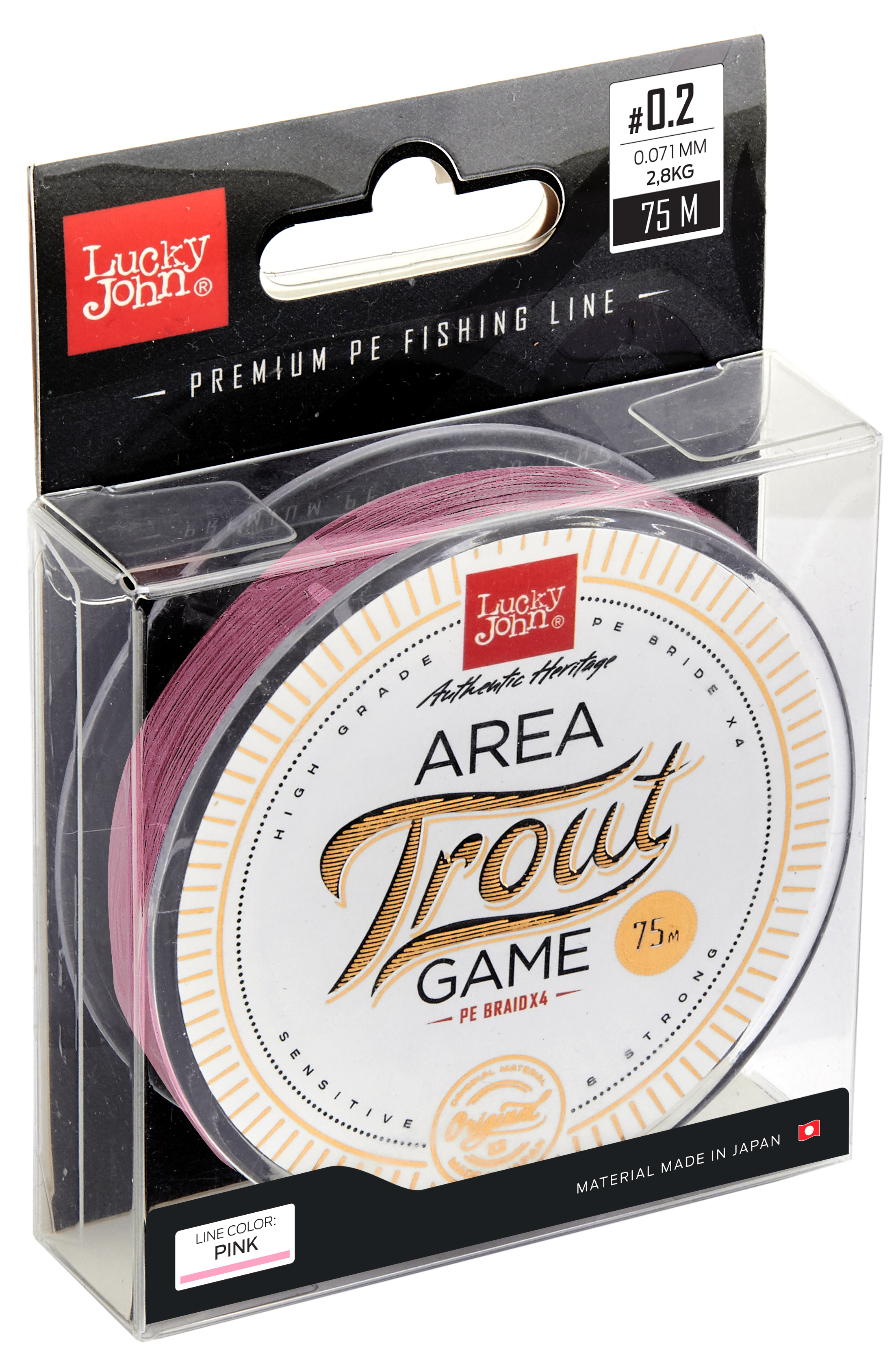 LUCKY JOHN AREA TROUT GAME PINK Line 75m 0,071mm 2,80kg