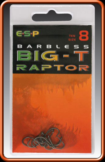 ESP Háčiky - BARBLESS BIG - T RAPTOR - vel. 6, 10ks