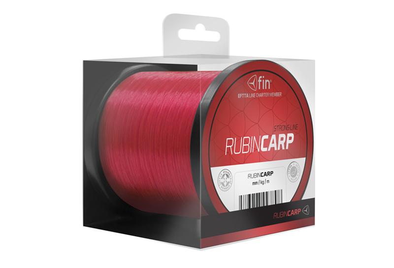 Fin vlasec Rubin Carp 600m / červená 0,26mm 13,2lbs