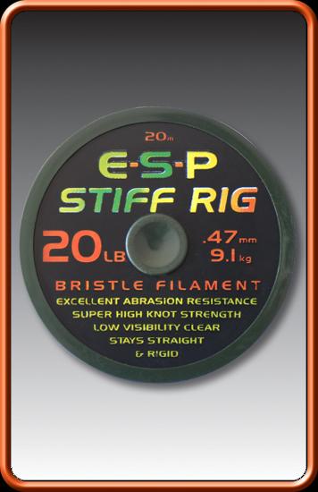 ESP Šnúra - STIFF RIG BRISTLE FILAMENT - 15lb, 20m
