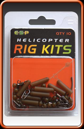 ESP Helikoptérová sada - Helicopter Rig Kits - Camo Brown - 60ks