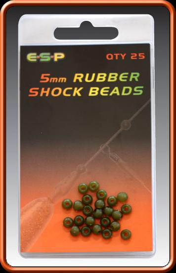 ESP Gumený stoper - Rubber Shock Beads Camo Brown - 5mm, 25ks