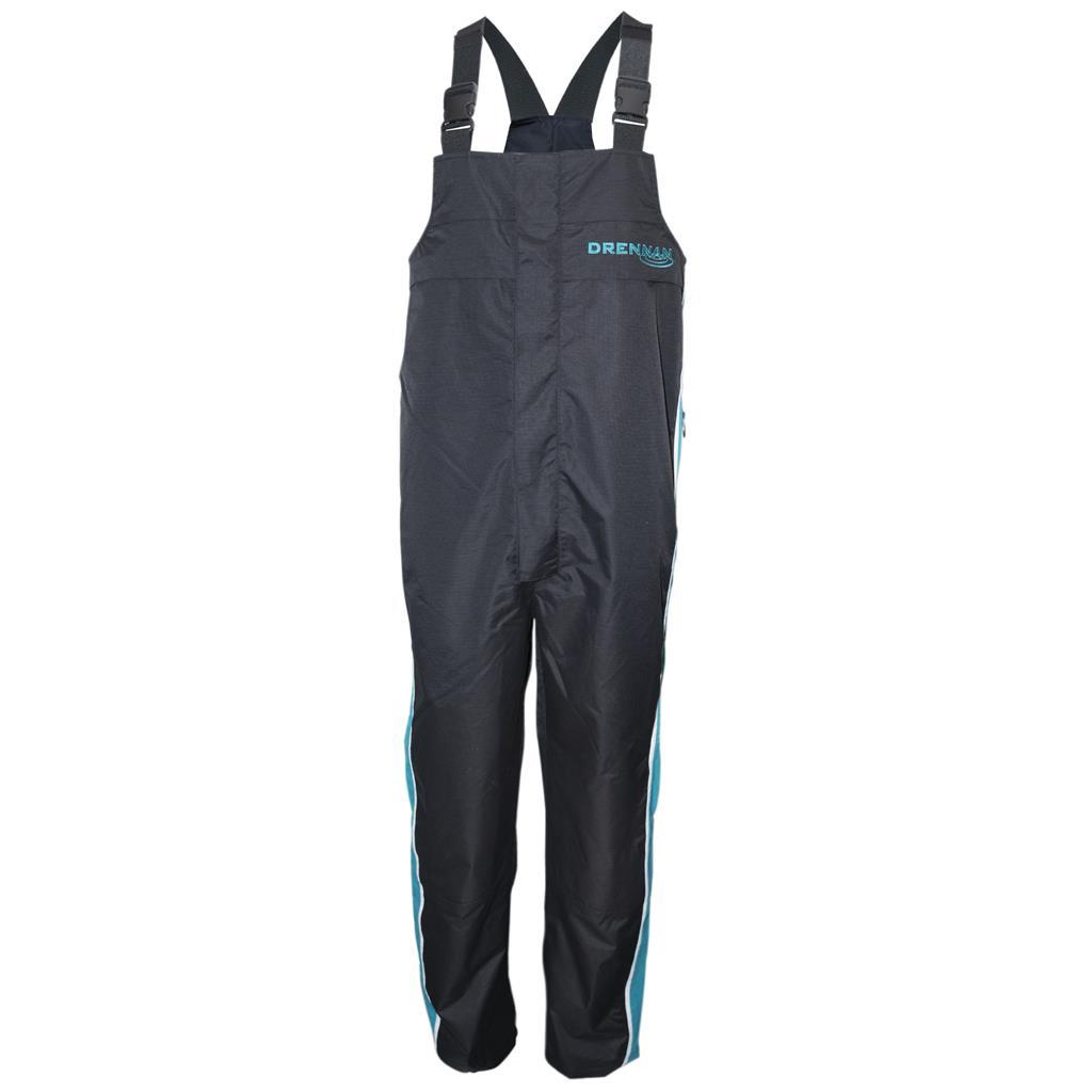 Drennan voděodolné kalhoty 25K Waterproof Salopettes Aqua/Black