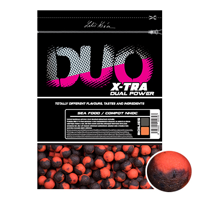 LK Baits DUO X-Tra Boilies Sea Food/Compot NHDC 20mm, 1kg