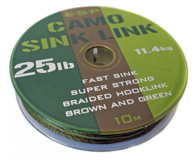 ESP Nadväzcová šnúra - Sink link camo green - 15lb, 10m