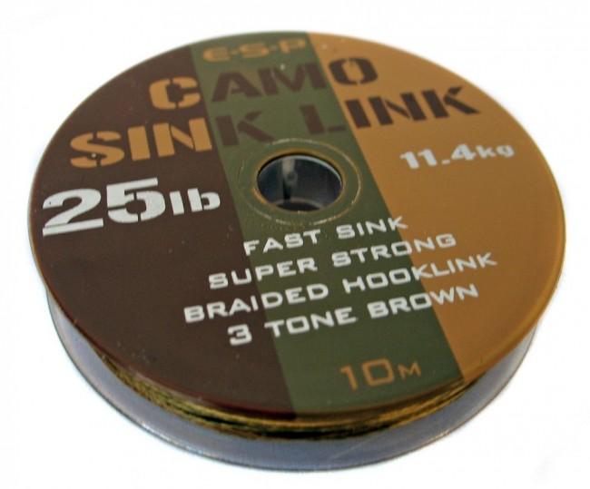 ESP Nadväzcová šnúra - Sink link camo brown - 15lb, 10m