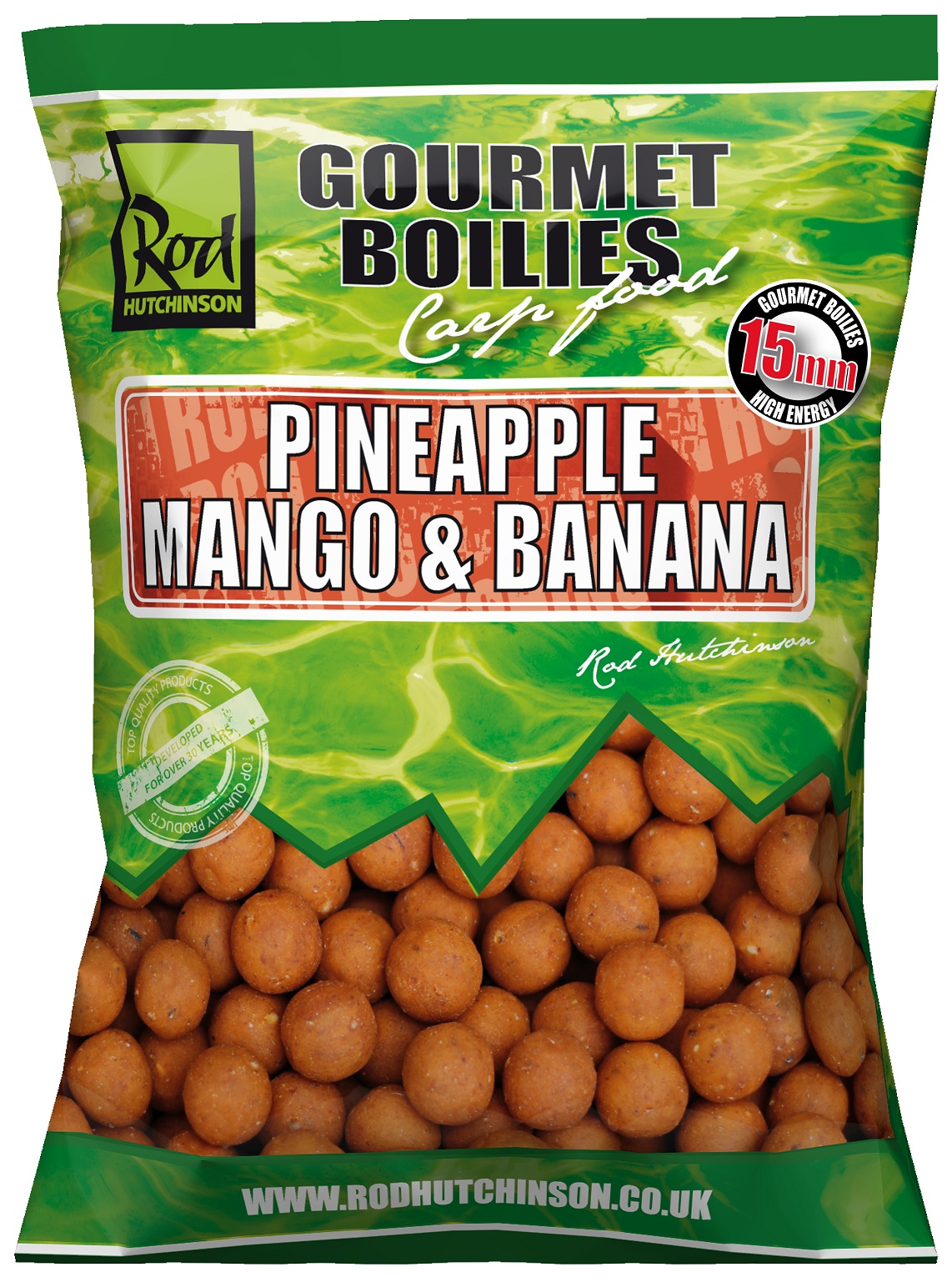 RH Boilies Pineapple,Mango & Banana 15mm 1kg