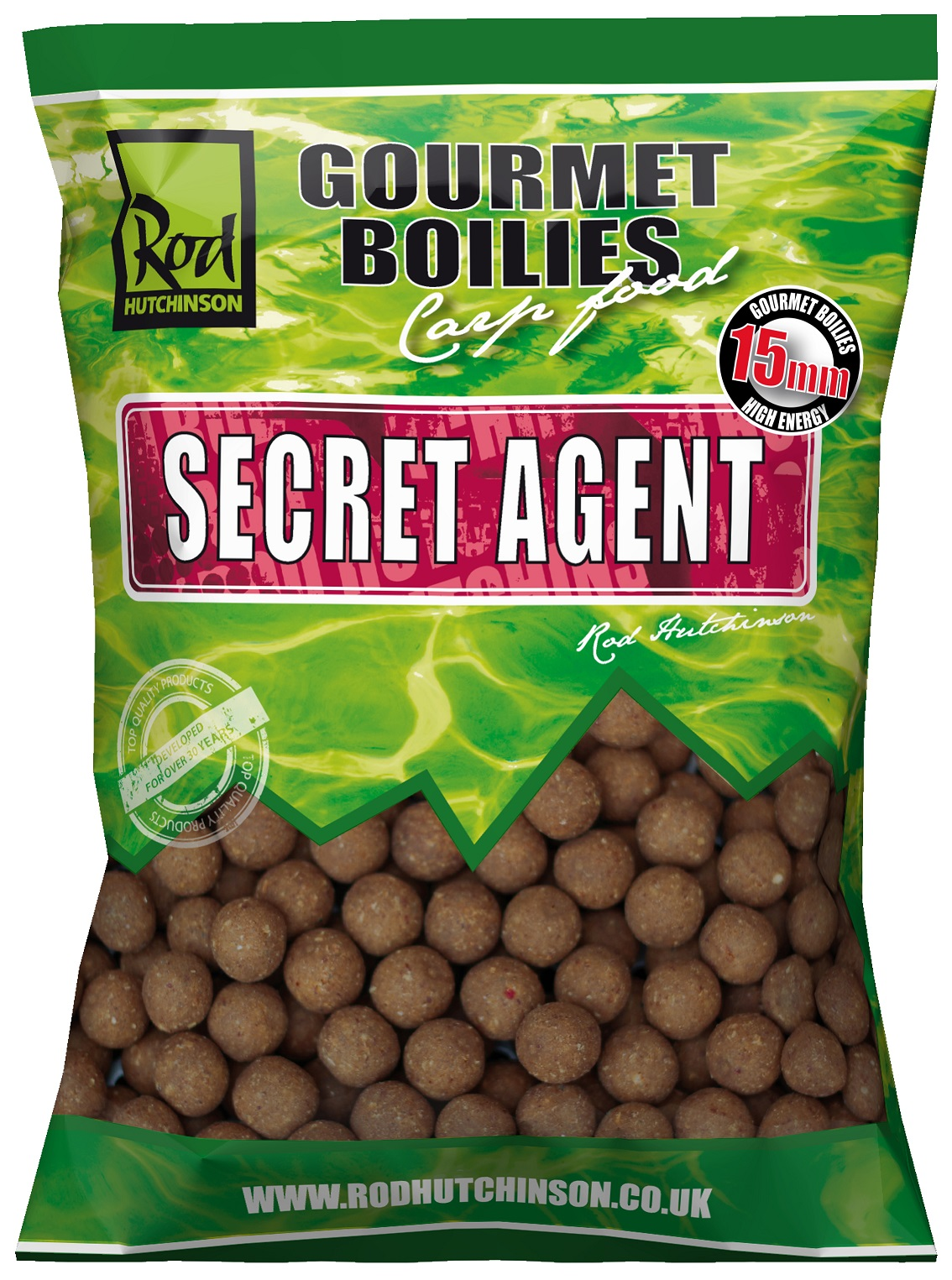 RH Boilies Secret Agent with Liver Liquid 15mm 1 kg