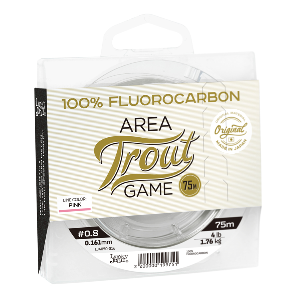 LUCKY JOHN FLUOROCARBON AREA TROUT GAME PINK Line 75m 0,161mm 1,76kg