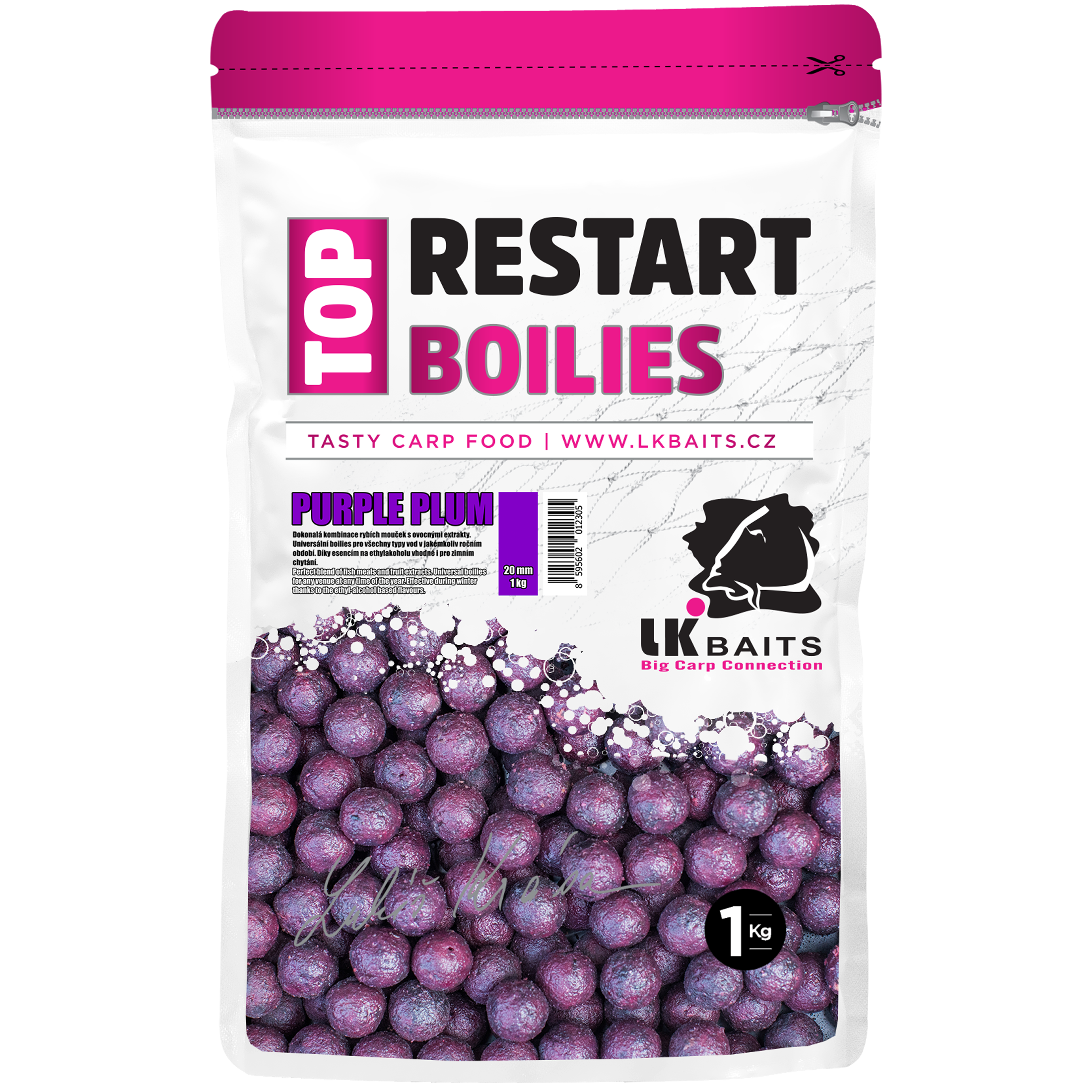 LK BAITS Top ReStart Purple Plum - 20mm (1kg)