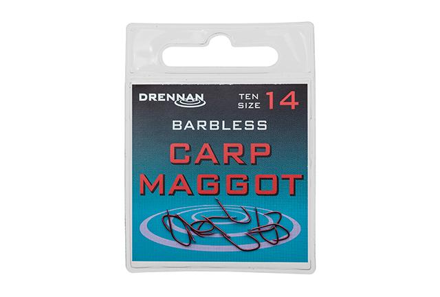 DRENNAN Háčiky - Carp Maggot barbless - vel. 12, 10ks