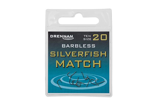 DRENNAN Háčiky bez protihrotu - Silverfish Match barbless - vel. 14 (10ks)