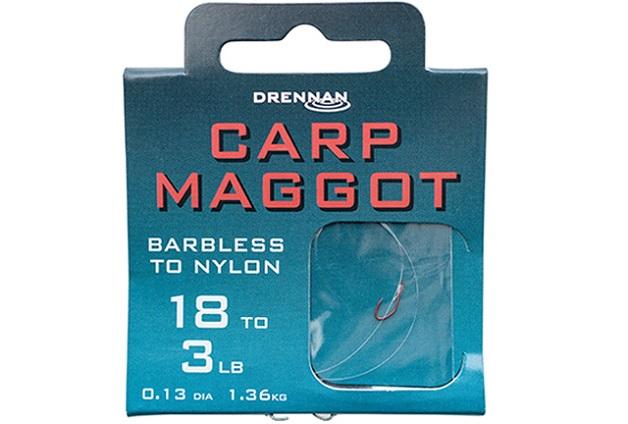 DRENNAN Návazce Carp Maggot barbless vel.14 / 4lb