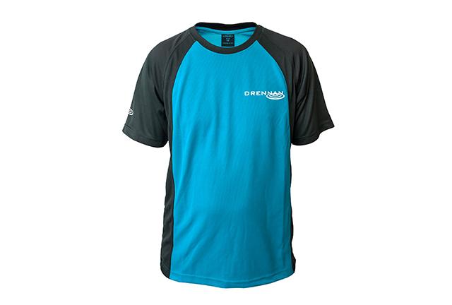 DRENNAN Tričko - Performance T-Shirt Aqua - vel. M