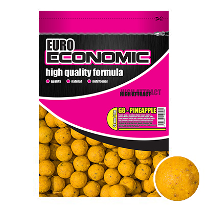 LK Baits Euro Economic Boilie G-8 Pineapple 1kg, 18mm