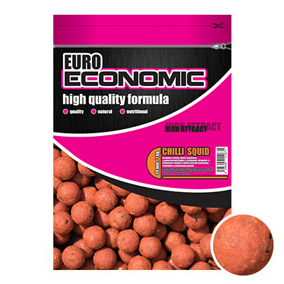 LK Baits Euro Economic Boilie Chilli Squid  1kg, 18mm
