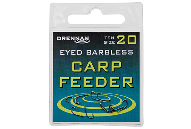 DRENNAN Háčky Eyed Carp Feeder barbless vel.12