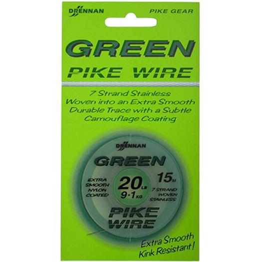 Drennan ocelové lanko Green Pike wire 12lb