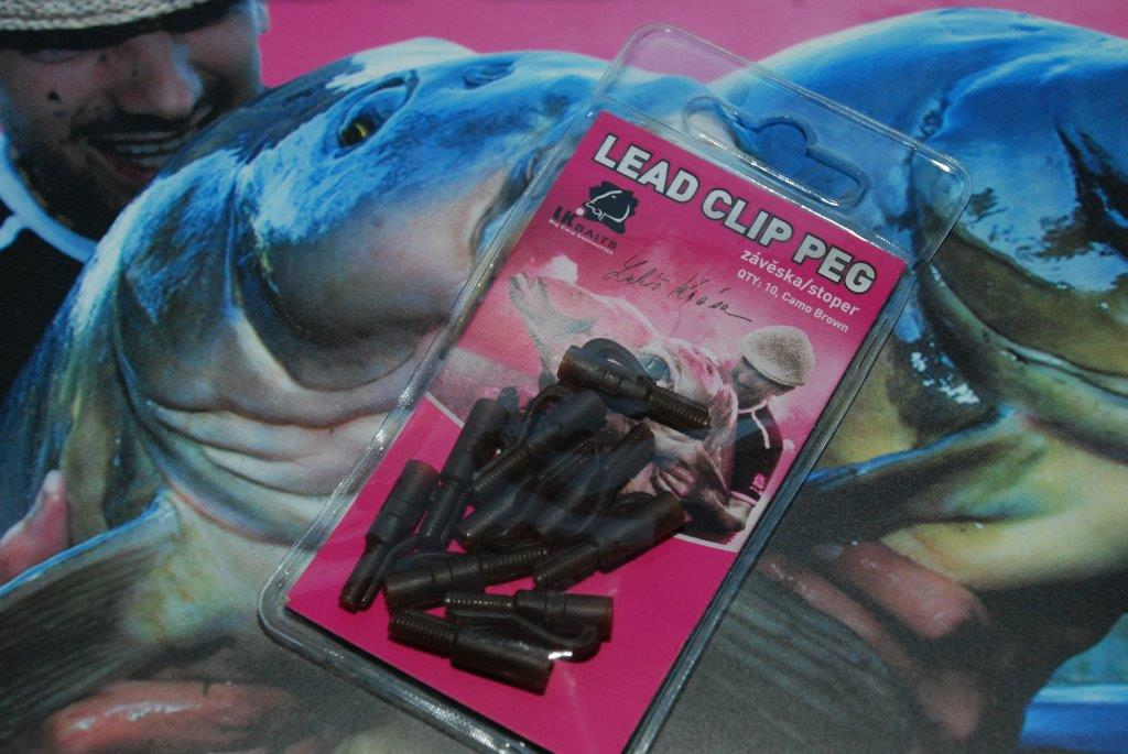 LK BAITS Lead Clip Peg Camo - Brown (10ks)