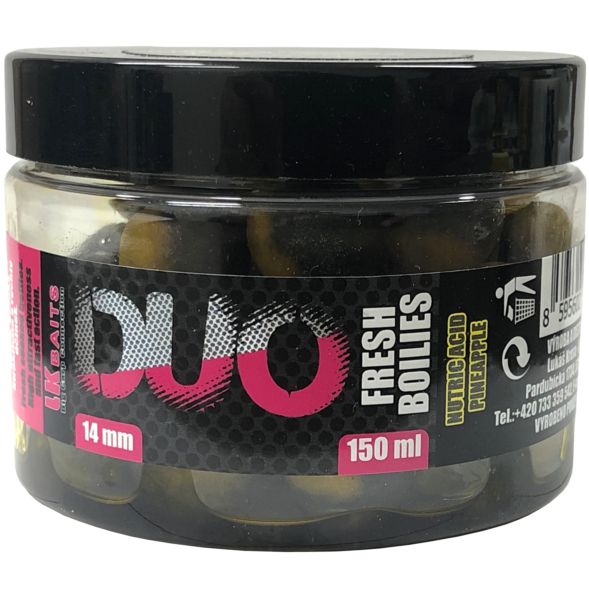 LK Baits DUO X-Tra Fresh Boilies Nutric Acid-Pineapple 14mm 150ml