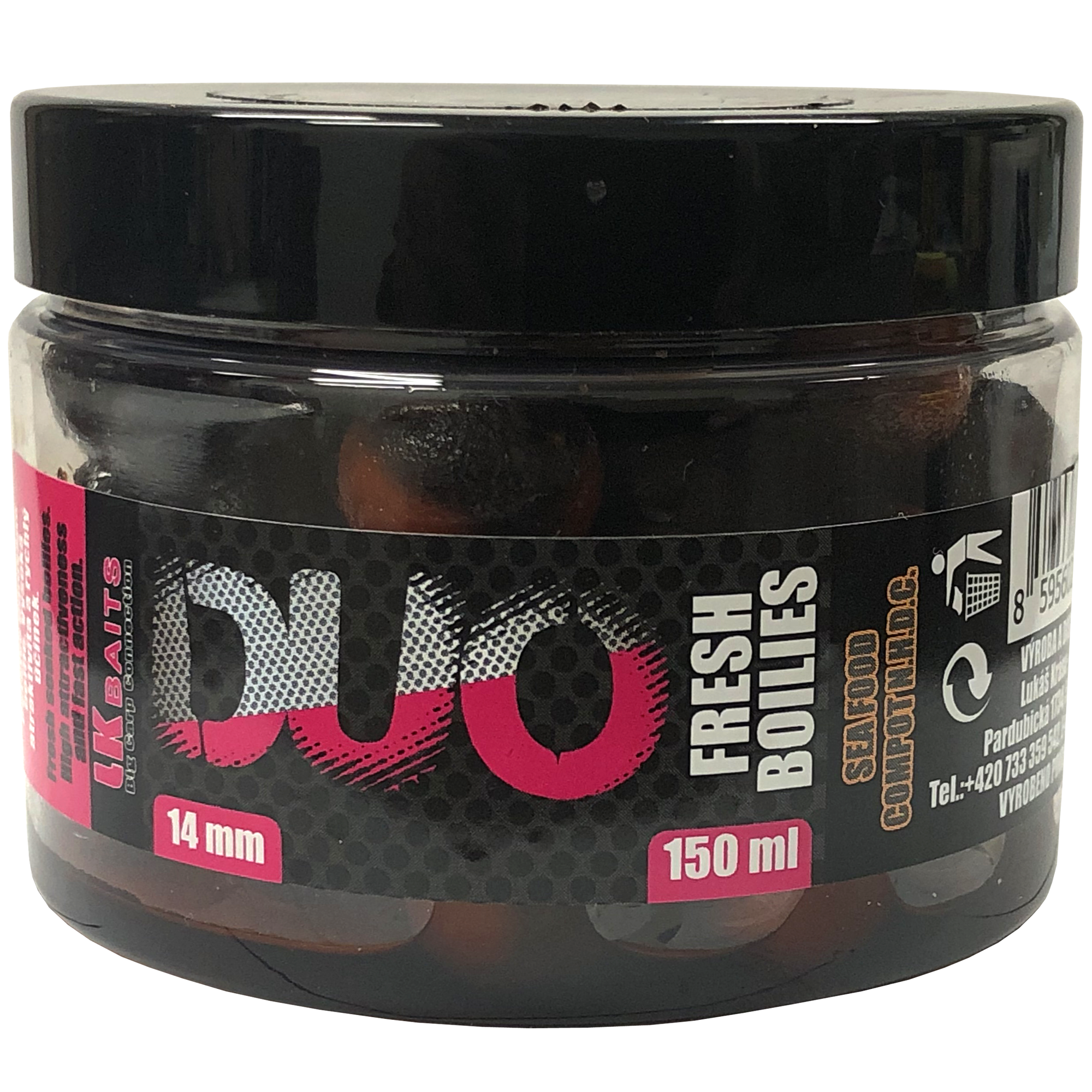 LK Baits DUO X-Tra Fresh Boilies Sea Food/Compot NHDC 14mm 150ml