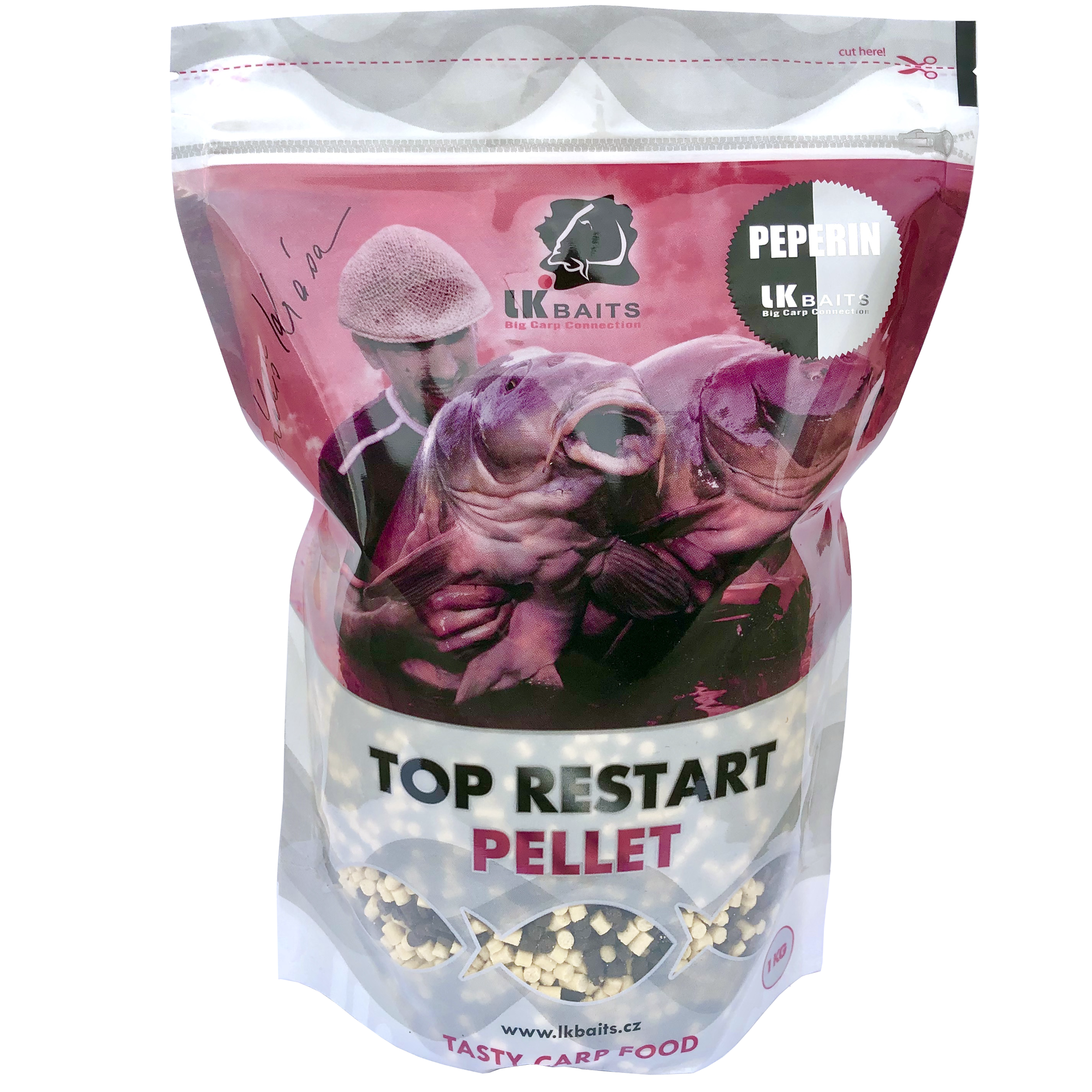LK Baits Top ReStart Pellets Peperin 1kg, 4mm