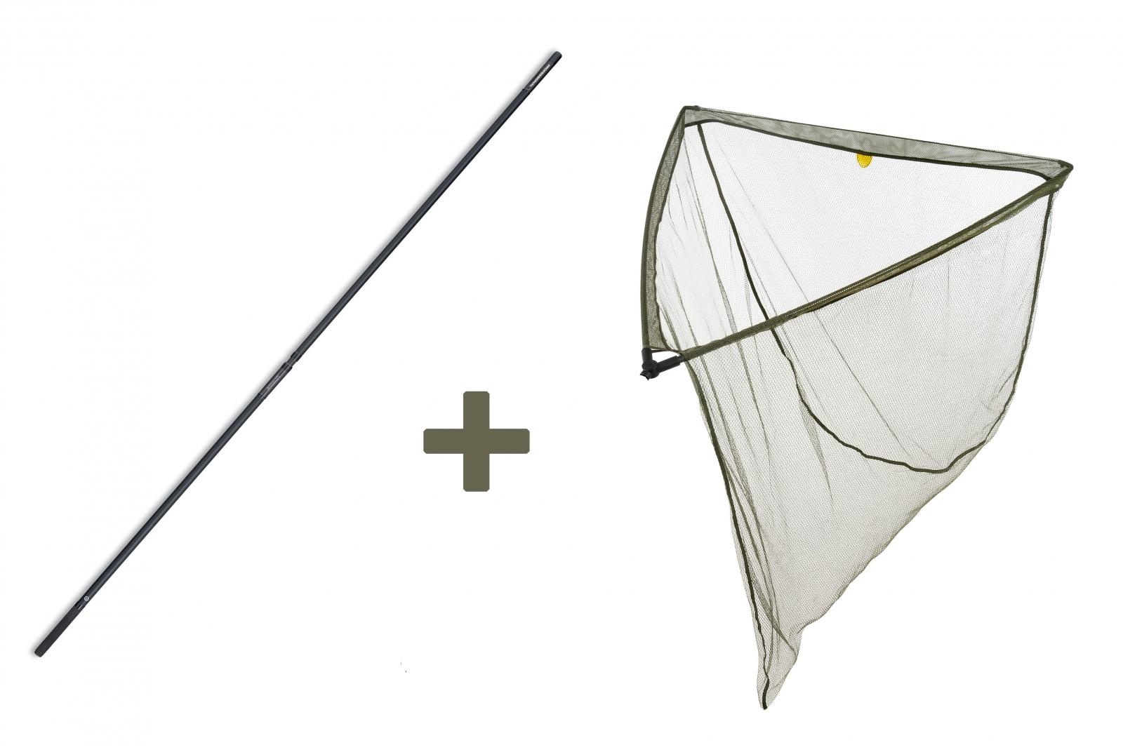 Mivardi podběrák Level M 100 x 100 cm + tyč Professional Twin