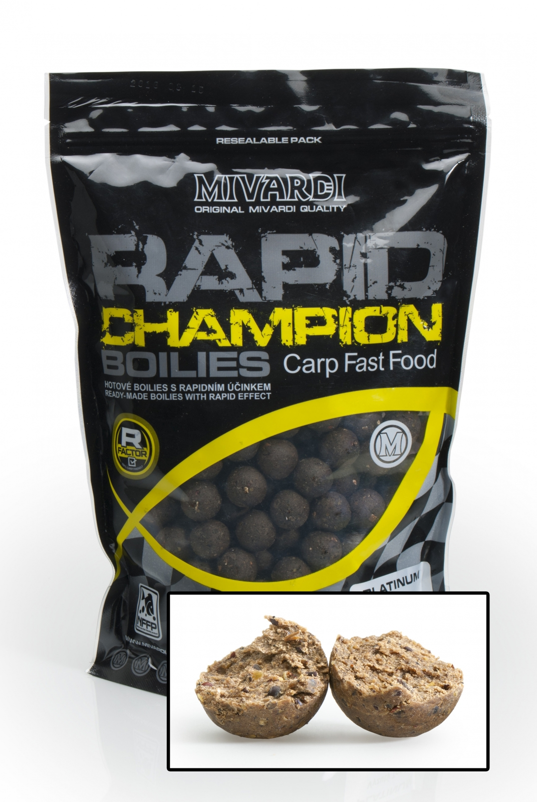 Mivardi boilies Rapid Champion Platinum - Crazy Liver 950 g 24 mm