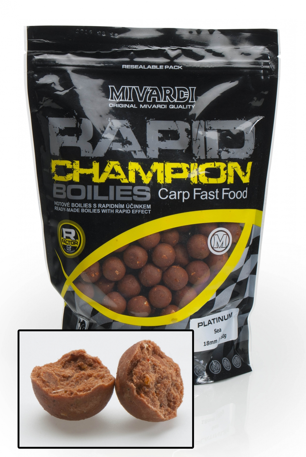 Mivardi boilies Rapid Champion Platinum - Sea 950g 18mm