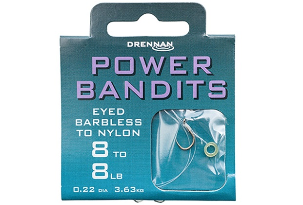 DRENNAN Návazce Power Bandits barbless vel. 14 / 6lb