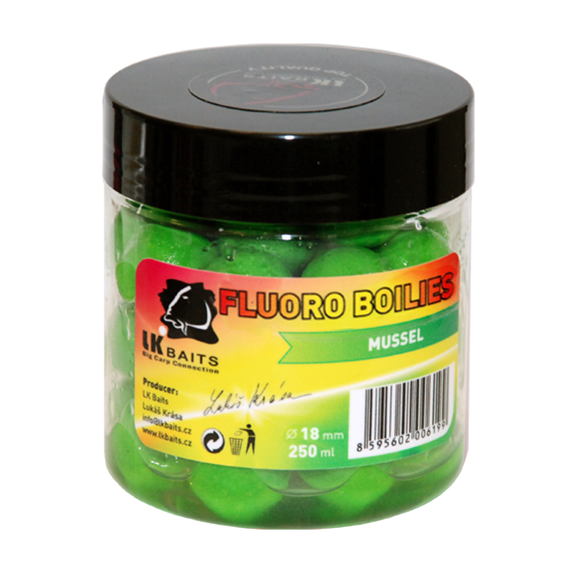 LK Baits Fluoro Boilies Mussel
