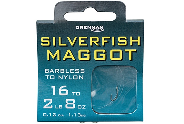 DRENNAN Nadväzec - Silverfish Maggot Barbless - vel. 16/2lb, 10ks