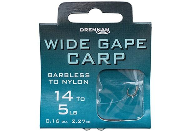 DRENNAN Nadväzec - Wide Gape Carp Barbless - vel. 10/7lb, 10ks