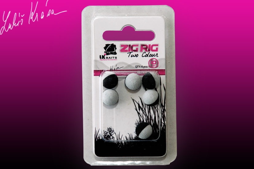 LK Baits ZIG RIG Pop–Up 10 mm – Black/White